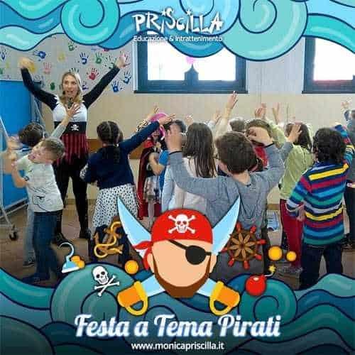 Animazione per bambini a tema Pirati e piratesse in una festa di compleanno