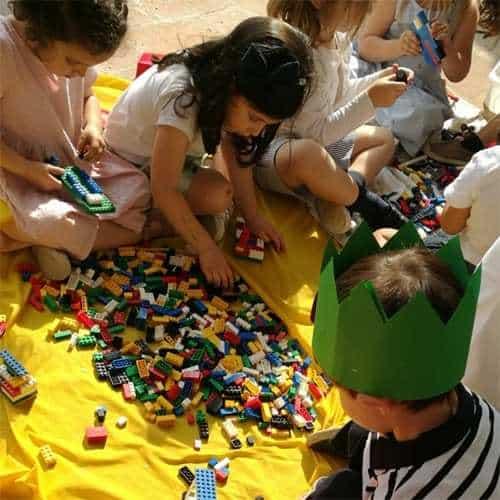 Festa di compleanno a tema Lego con animazione per bambini