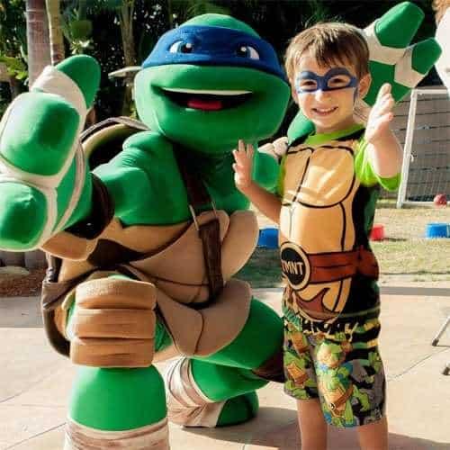 Festa di compleanno per bambini con animazione a tema Tartarughe ninja